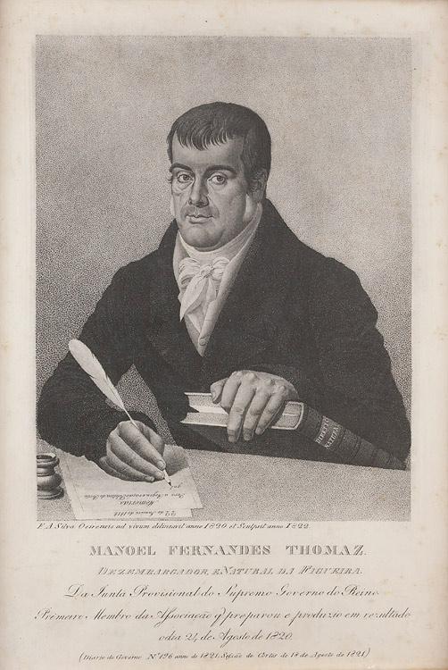 Manuel Fernandes Tomás, gravura de C. Legrand, 1841], Biblioteca Nacional de Portugal