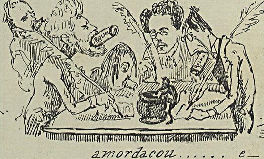Caricatura sobre as Conferências
