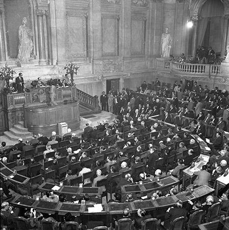 A Assembleia Nacional em 1971. Fotografia de Miranda Castela, Arquivo Histórico Parlamentar (AHP).
