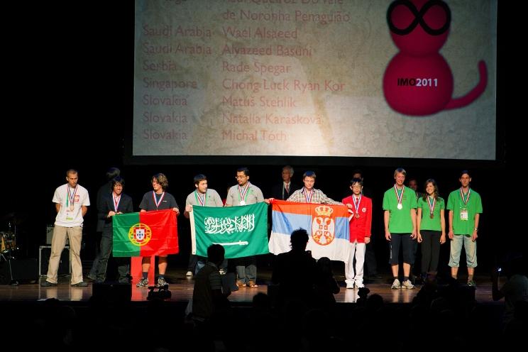 02.Agosto.2011 - Recepção aos jovens premiados nas Olimpíadas Internacionais da Matemática