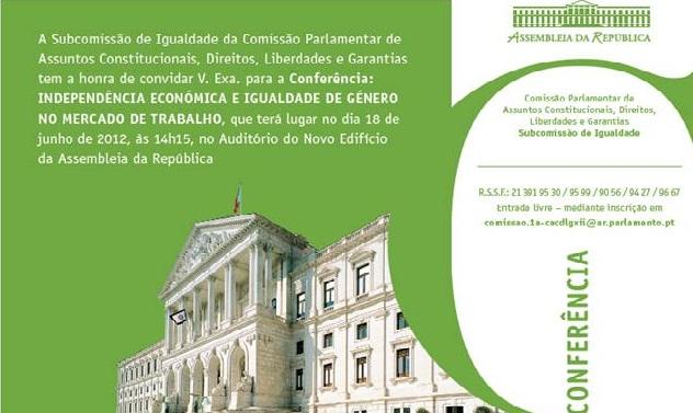 """Conferência """"Independência Económica e Igualdade de Género no Mercado de Trabalho"""""""
