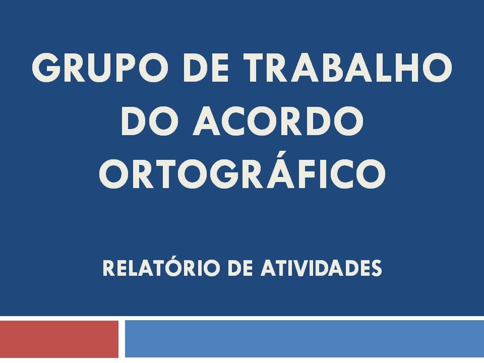 Relatório de Atividades do Grupo de Trabalho, aprovado na reunião da Comissão de 30 de julho de 2013.